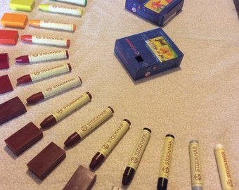 Stockmar Beeswax Crayons - Blocks OR Sticks in Sets of 24 Colors * Waldorf *