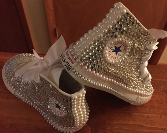 Toddler size 5-10 Custom made to order bedazzeled shoe