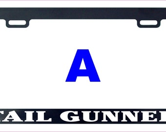 Tail gunner tailgunner assorted license plate frame