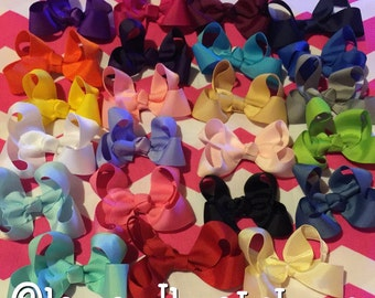 Small hair bows Baby bows