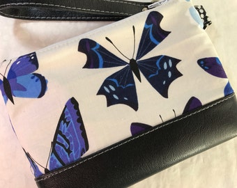 Butterflies Lizzy House with Faux Leather