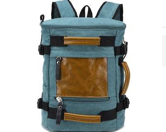 Laptop briefcase, canvas laptop bag, leather canvas briefcase, shoulder bag, laptop bag, canvas briefcase, leather handle briefcase