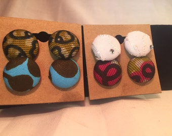 Multi colored Stud Earrings.