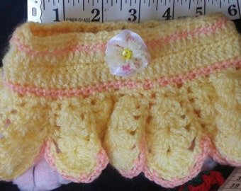 Small puppy dog clothes/ dog dress / dog wear / pet clothing / puppy skirt / puppy scarf /  crochet puppy clothes.