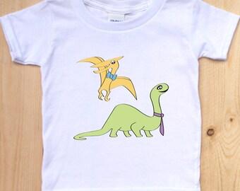 Dinosaur Shirt/ Cute Dinosaur Toddler Shirt/ Brontosaurus Shirt/ Pterodactyl Shirt/ Dinosaur for Kids/ Dino T-Shirt/ Dinosaur Graphic