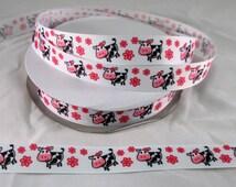 "7/8"" Cute Cow Print Grosgrain Ribbon By The Yard, Grosgrain Bows, Gift Wrap Supplies, Ponyo's Ribbon, Crafting Supplies, Crafting Ribbon"