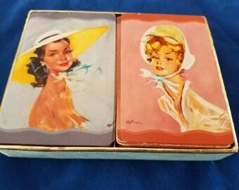 Vintage Whitman Playing Cards - 2 Decks