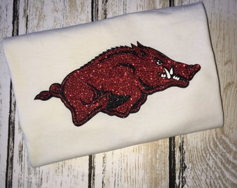 University of Arkansas Razorbacks T-shirt, Womens,Mens, Children, Razorback Hog, Razorback