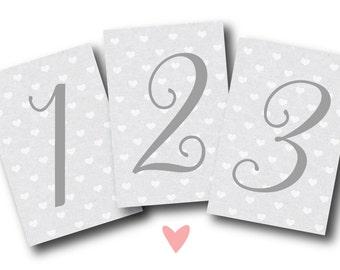 Printable Table Numbers | 1-20 | Wedding Decor | Bridal Shower Decor | Baby Shower Decor | 4x6
