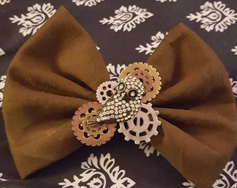 steampunk owl bow