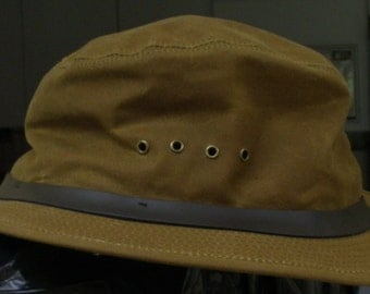 Vintage Filson Tin Cloth Packer Hat Cotton New With Tag's