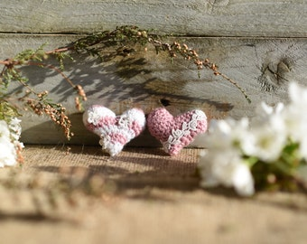 Handmade Crochet Hearts