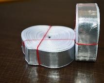 Silver Gota Trim 18 yard, golden gota trim Aprox 1 Inch Wide - Gota trim for your wedding dresses, Gift wraping and fancy items