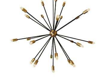 Ceiling Sputnik fixture -Steampunk Light - Industrial light - Industrial Lighting - Pendant Lighting - Modern Lighting - Steel Light -Light