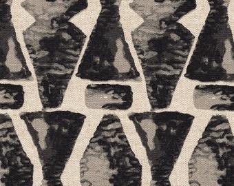 Tailored Valance Juju Geometric Granite Black