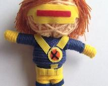 Super Hero Squad Cyclops Comic Voodoo String Doll Keychain Keyring