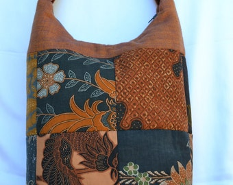 Vintage Batik Hobo Bag