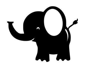 Cute Elephant Nursery Vinyl Decal 0012