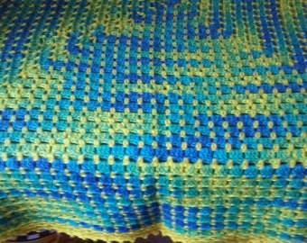 Fun and Funky Crocheted Granny Square Afghan