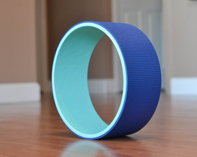 "12"" Yoga Wheel- Teal&Blue"