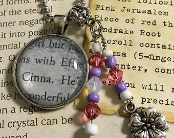 Hunger Games Book Necklace - Effie & Cinna