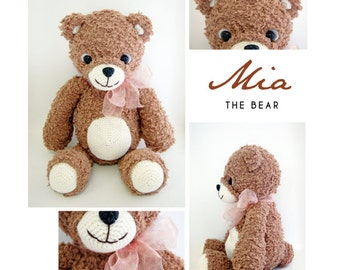 Mia The Bear Amigurumi Crochet Doll Plush *Made to order*