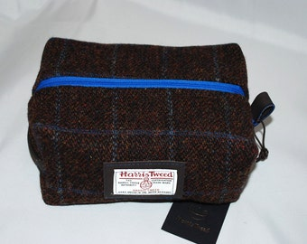 Harris Tweed wash bag/ mens toiletry bag