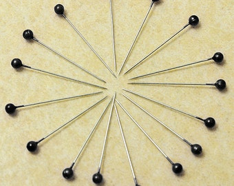 800Pcs Black Round Pearl Head Pins Weddings Corsage Sewing Pin  ********** US SELLER with Fast Shipping