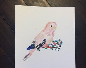 8 x 10 watercolor bird