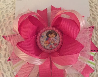 Dora  stacked boutique hairbow
