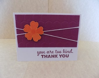 Textured Thank You Flower Card