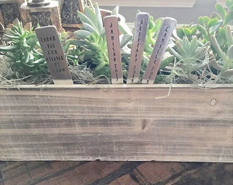 Thank You For Helping Me/Us Grow Garden Markers - Teacher/Tutor/Daycare Gift