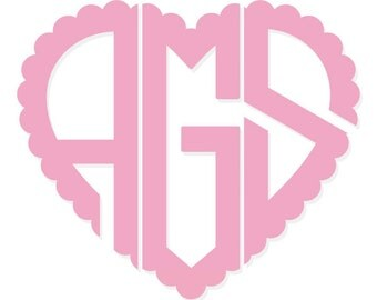 "Shop ""heart monogram font"" in General Supplies"