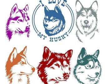 Husky Dog Cuttable Design
