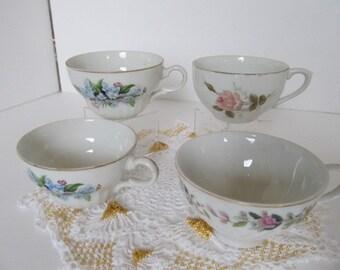 Vintage Teacups Made in Japan Assortment (4 pcs)