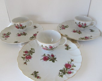 Vintage Jubilee luncheon sets (3) plus 2 extra plates - Made in Japan by Laurel China