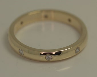 18ct yellow gold 7 stone diamond set wedding band / ring / 18ct yellow gold gold band / diamond wedding band / eternity ring / engagement