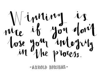 Hand Drawn Typography Quote - Arnold Horshak