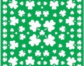 Shamrock Bandanna, Shamrock Bandana, Green Bandana, St Patricks Bandanna, Pet Bandanna, Dog Scarf, Green Headband