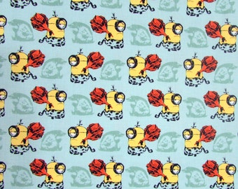 Cro Minions Light Blue Fabric From Quilting Treasures