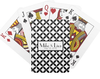Personalized Playing Cards, Monogrammed Poker Playing Cards, Custom Deck of Cards, Personalized Gift
