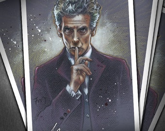 The Twelfth Doctor - Original Art Print of Peter Capaldi from Doctor Who