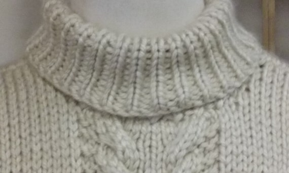 Knitting Pattern Side Button Poncho : Knitting PATTERN ONLY - Poncho Sweater Coat- Cable, Side ...