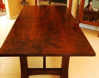 Custom Black Walnut Table - Solid Wood - Bookmatched slabs