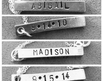 Four sided customizable necklace/keychain