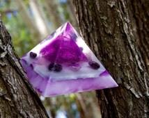 Powerful Violet Flame Amethyst Orgone Orgonite Pyramid