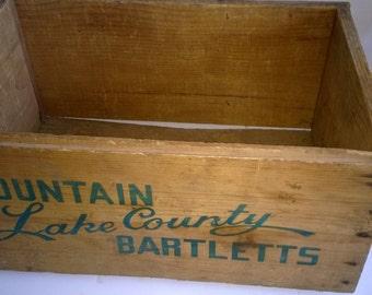 Wooden Box Cargo Box Blazing Star
