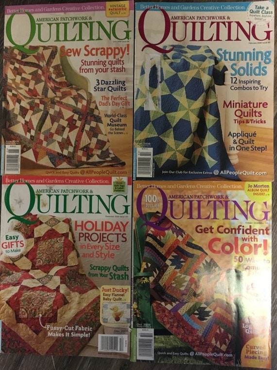 4 American Patchwork And Quilting Magazines Better Homes And