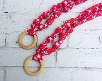 Teething necklace,nursing necklace,fabric necklace