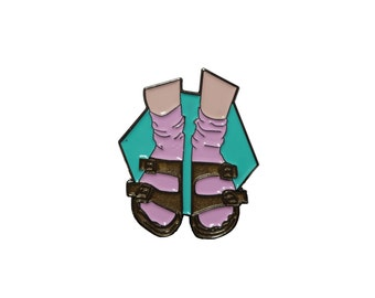 Socks and Sandals Pin